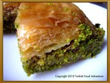 Baklava, a world-renowned dessert of the Turkish cuisine