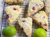 Bing Cherry Lime Scones