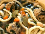 Chicken Noodle Soup With Turkey Meatballs
