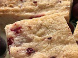 Cranberry and Lemon Shortbread Cookies