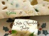 Green and Gold White Chocolate Fudge