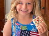 Red, White and Blue Marshmallow Treats
