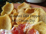 Roasted Red Pepper and Onion Relish Dip {Super Saturday Snack}
