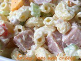 Turkey Ham and Cheese Macaroni Salad