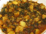 Aloo Palak i Potato spinach curry