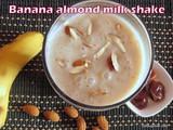 Banana dates almond shake