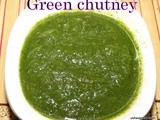 Green chutney i Green chutney recipe for chaat and sandwich spread