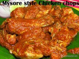 Mysore style chicken chops recipe