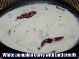 White pumpkin curry with buttermilk