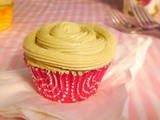 Very Vanilla Cupcakes with Matcha Green Tea Frosting