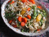 Hand-Cut Egg Noodles with Veggies