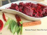 Beetroot Poriyal | Beets Dry Curry