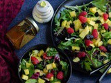 Mixed Greens and Fruit Salad with Honey | No Oil Salad