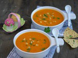 Roasted Bell Peppers and Butternut Squash Soup