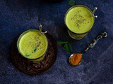 Turmeric and Mint Buttermilk | Haldi Chaas
