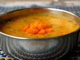 Easy Carrot dal Recipe - Side dish for Chapathi,Roti & Rice