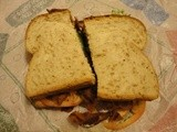 Arby's 5 Strip Ultimate blt, More like blb (Bacon Lettuce Bread)