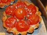 Cherry Tomato Triscuit Tartlets