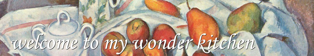 Very Good Recipes - welcome to my wonder kitchen