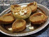 Quick sugarfree low calorie Aata sheera|Wheat dessert|Edible Diwali diyas/lamps