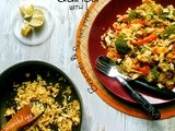 Quinoa pilaf with broccoli,red bell pepper & scrambled egg