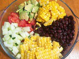 Avocado Black Bean and Corn Salad