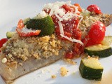 Baked Parmesan Crusted Fish with Zucchini Salsa