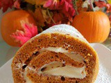 Classic Pumpkin Roll with Creamy Cheese Filling