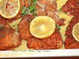 Italian Bake Fried Lemon Chicken Cutlet Recipe and Cookbook Offer