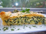 Italian Three Cheese Spinach and Broccoli Pie with Puff Pastry