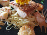 Pan Seared Sea Bass Medley with Pasta