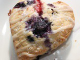 Strawberry Blueberry Orange Heart Scones