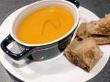 Parsnip and sweet potatoes soup with a dash of truffle oil