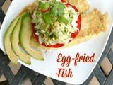Korean-style Pan-Fried Fish {Saengsun Jun} with Fresh Zucchini & Avocado Slaw