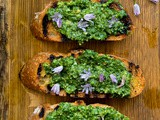 Lovage and Green Garlic Pesto