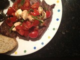 Caprese-Topped Steak