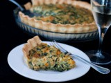 Caramelized Squash Spinach Bacon Quiche