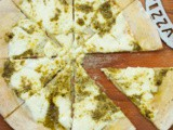 Traditional Italian White Pizza With Pesto