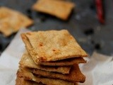 Wheat Crackers | Crispy Chilli Biscuits | Wheat Crackers Flavored With Indian Spices | Spiced Vegan Crackers | Savoury Crackers