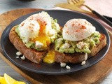 Poached Eggs on Toast with Avocado and Feta