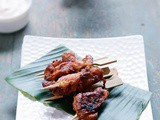 Chicken Satay with Yogurt Sauce