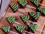 {Guest Post} – Christmas Tree Gingerbread Brownies by Saswati of 'Delish Potpourri'