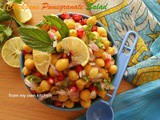 {Ramadan Special} – Chickpeas Pomegranate Salad by Ruxana of 'From my own Kitchen'
