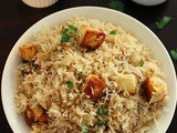 Paneer pulao recipe, paneer rice recipe